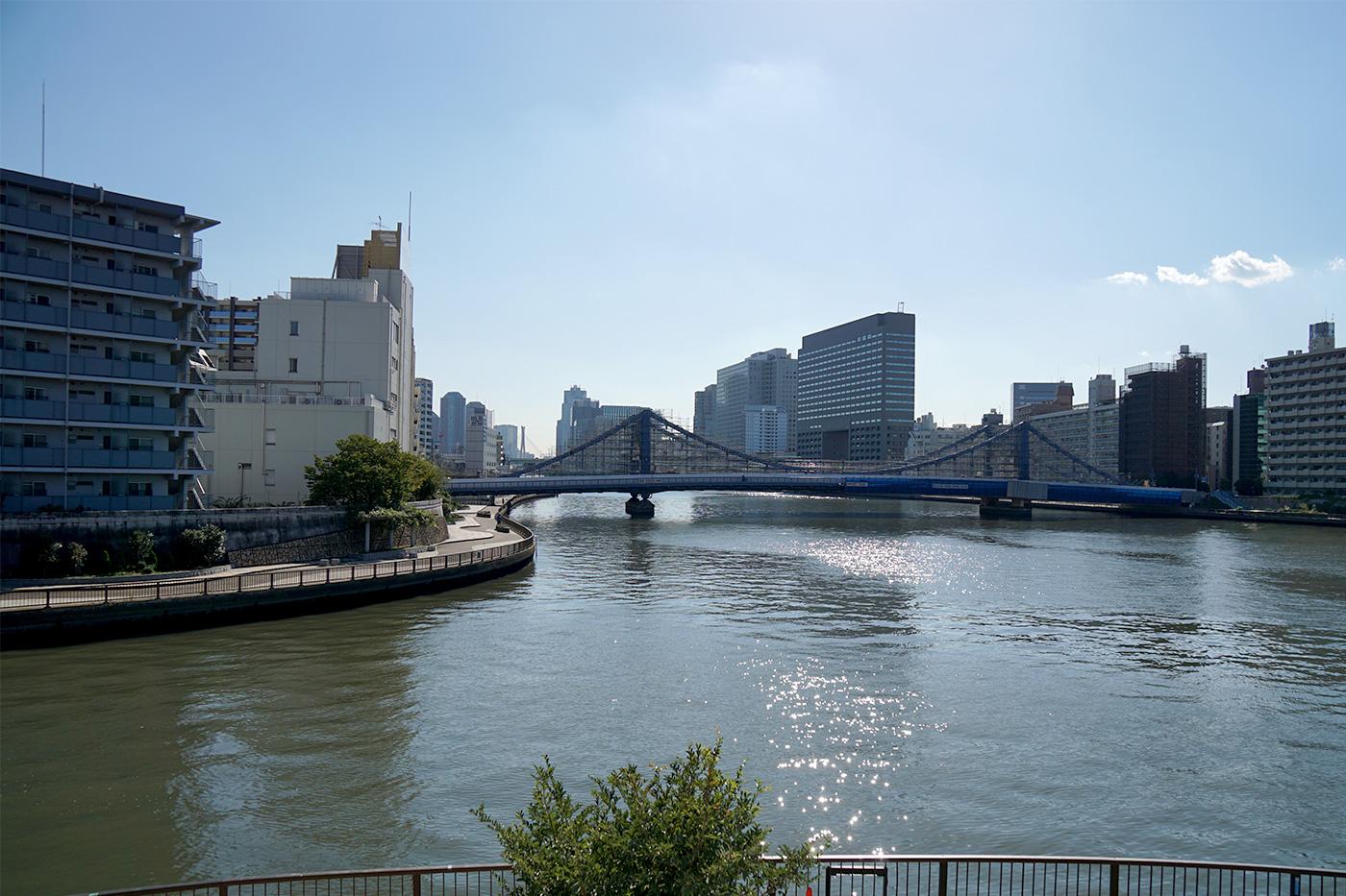 画像 隅田川と小名木川の合流地点