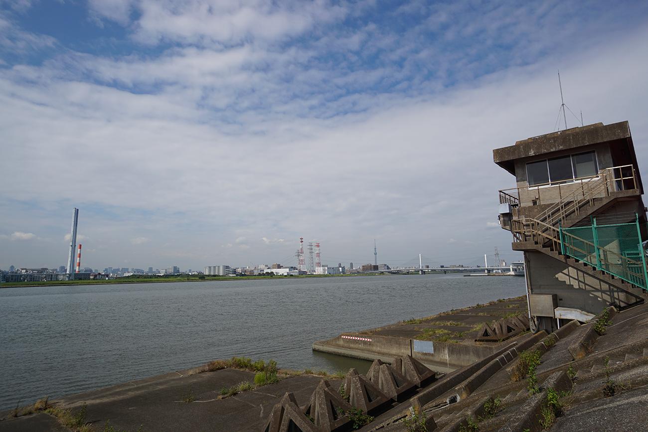 画像 新左近川と荒川との合流地点
