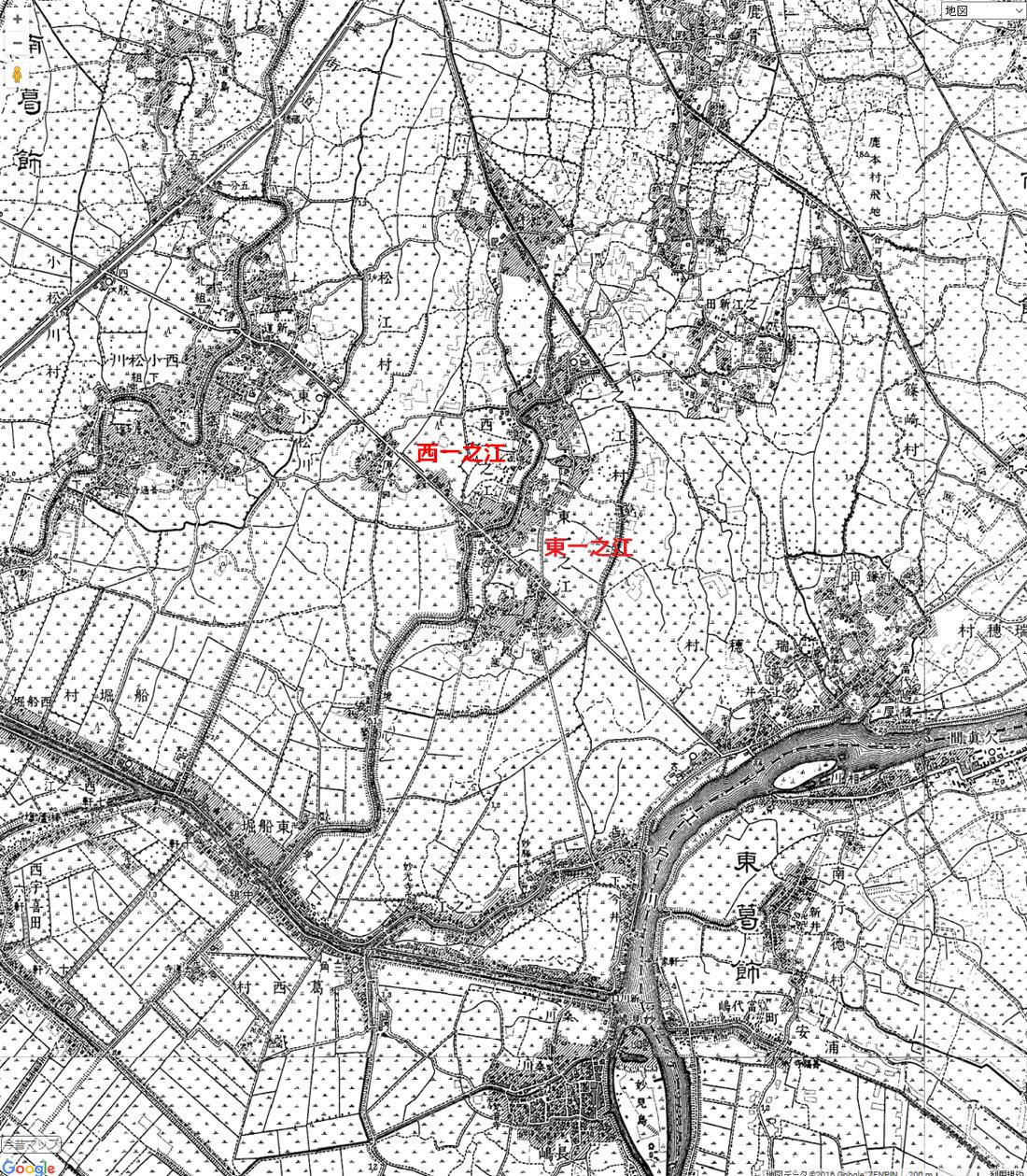 画像 一之江境川 今昔マップ