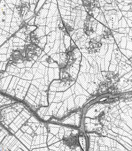 明治42年の江戸川区の地図