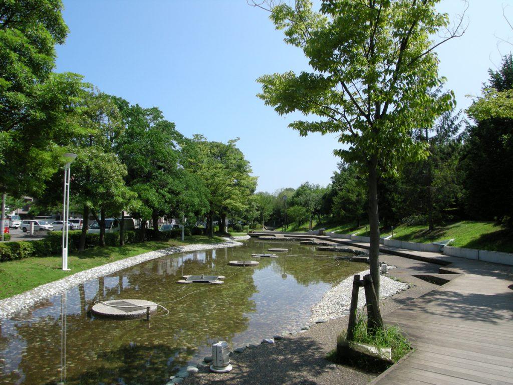 画像 新長島川親水公園の夏の風景
