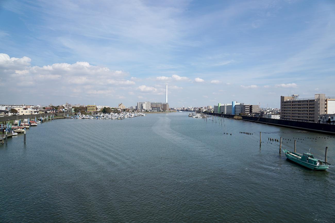 画像 今井橋上から旧江戸川の上流方面を撮影
