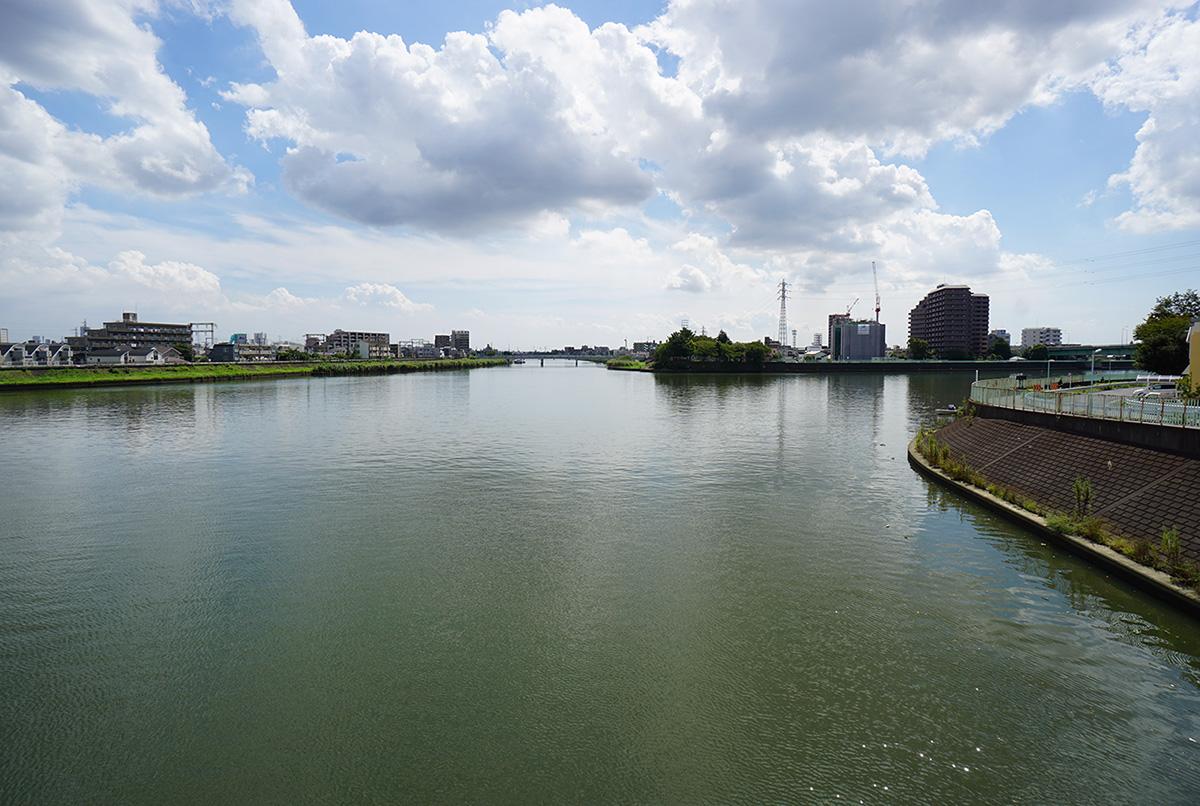 像 中川と新中川の分岐地点の風景2