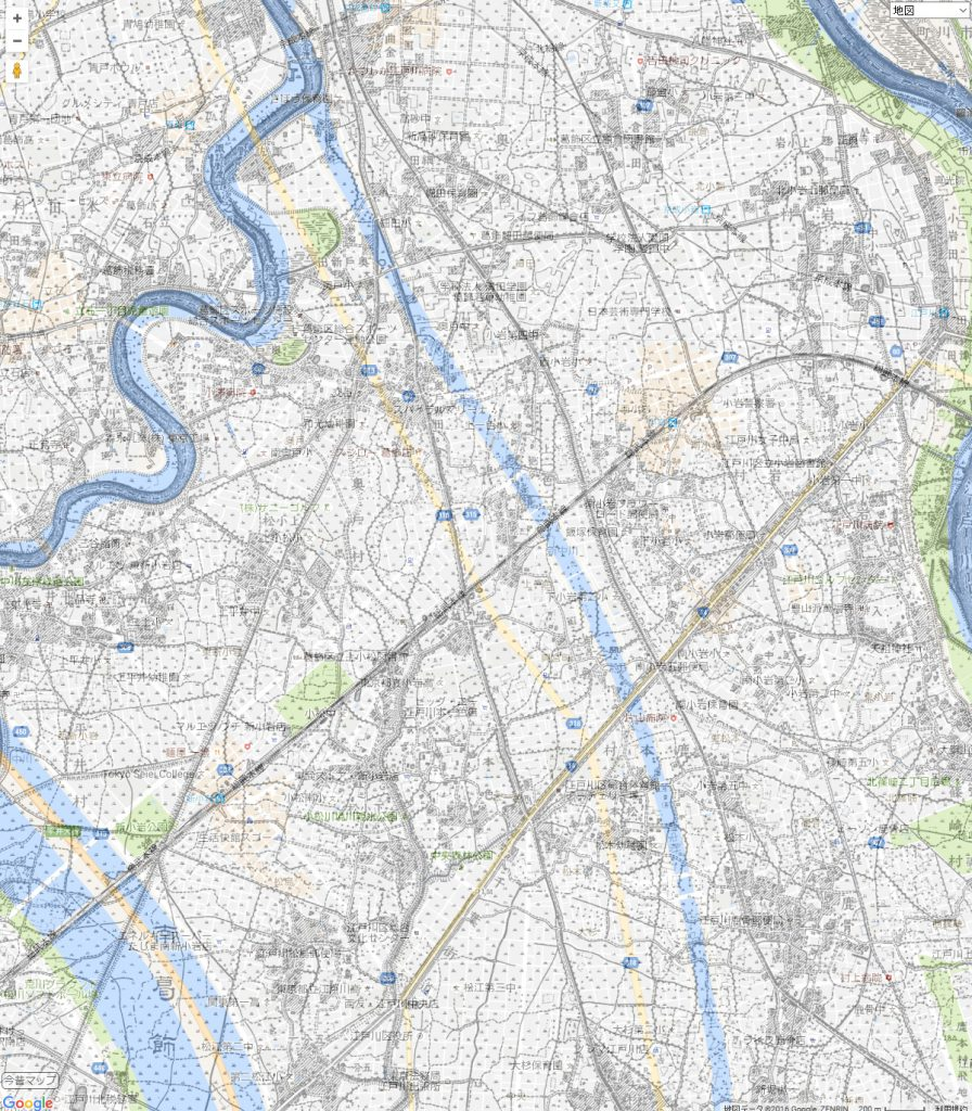 画像 明治42年と平成28年の中川の地図