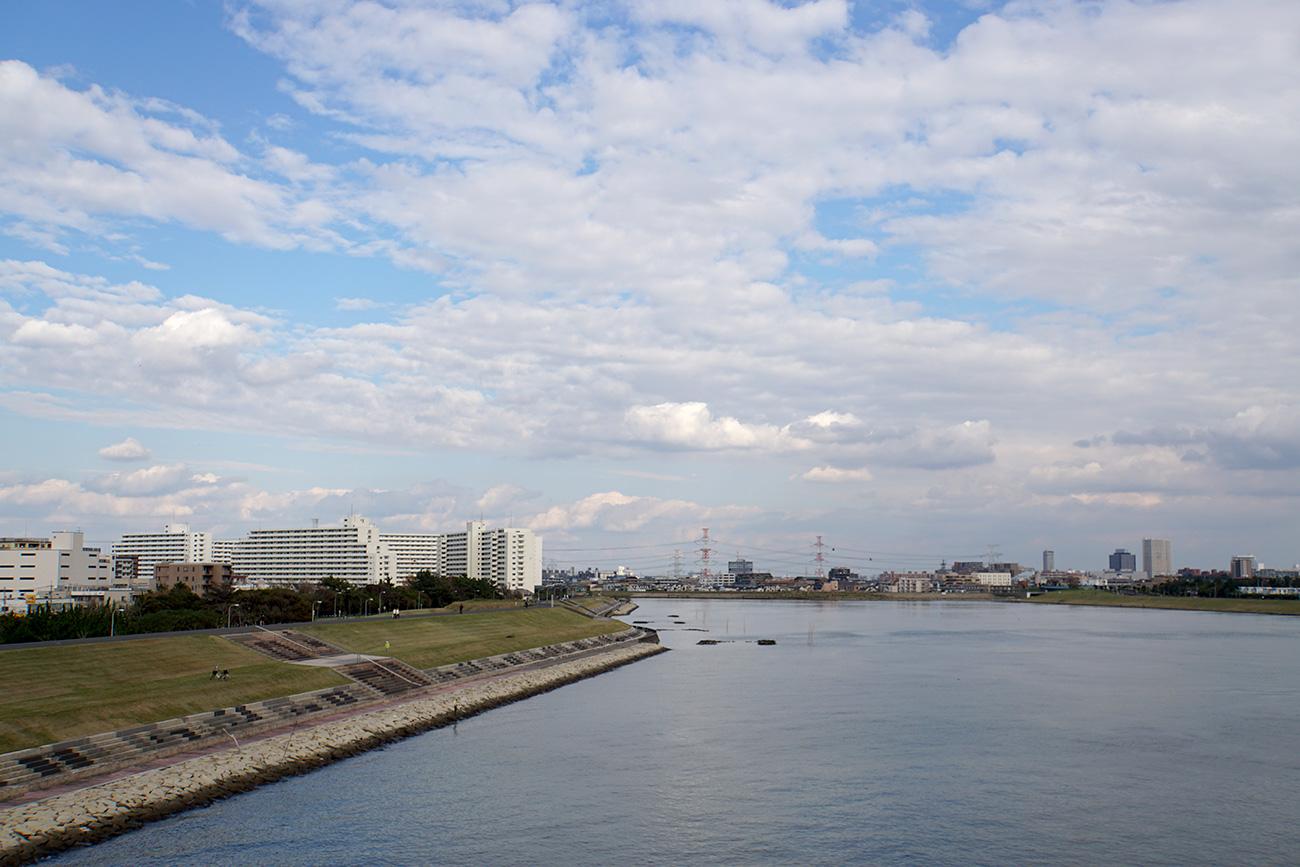 画像 舞浜大橋からみた旧江戸川の風景