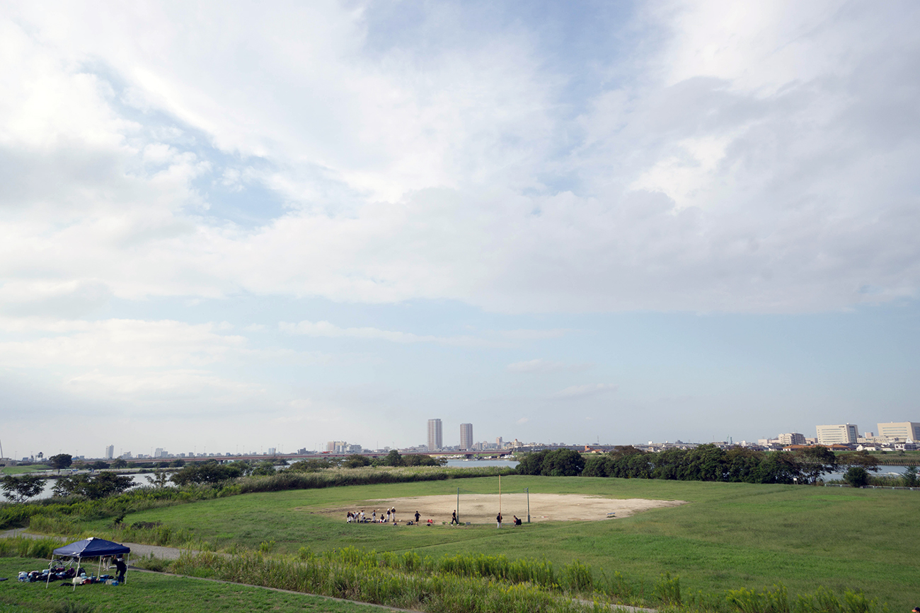 画像 江戸川と旧江戸川の分岐点