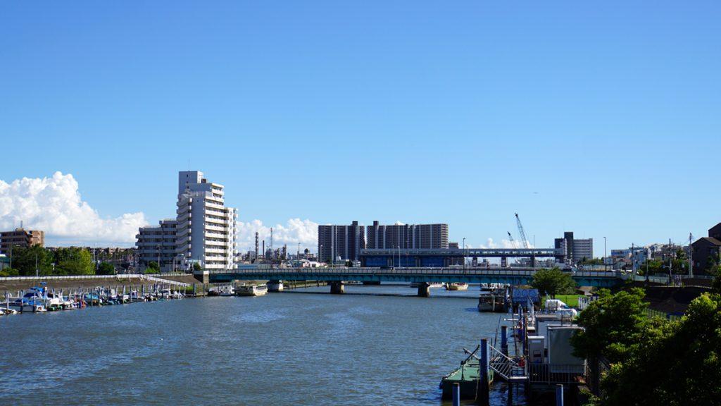 画像 新中川にかかる瑞江大橋