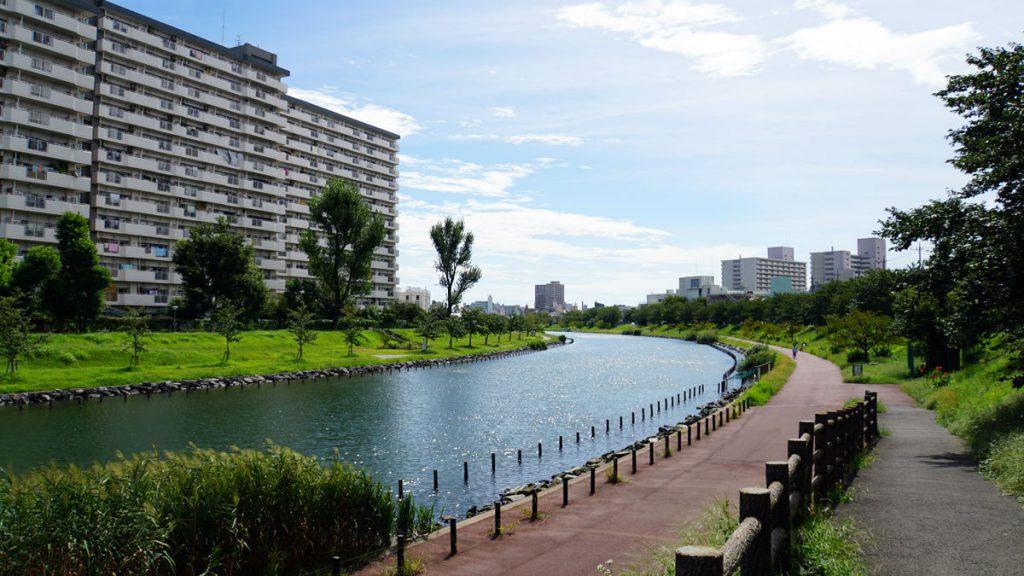 画像 中平井橋の南側から撮影した旧中川