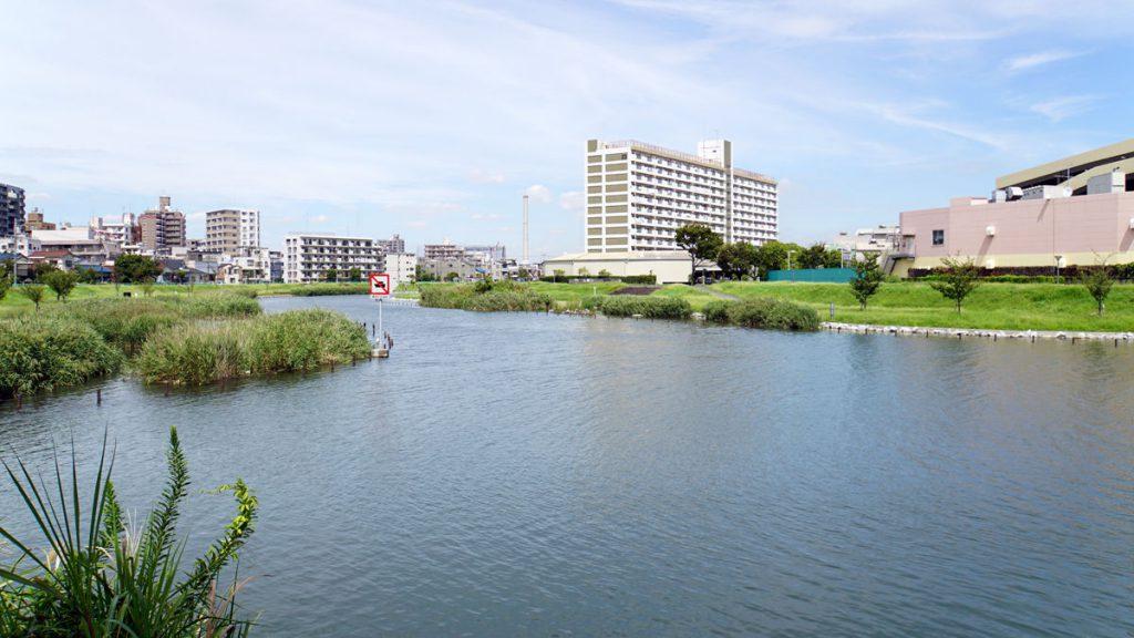 画像 北十間川と旧中川との合流地点