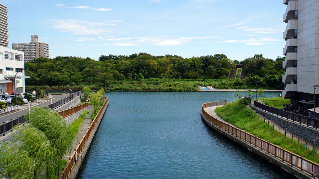 画像 小名木川と旧中川との合流地点