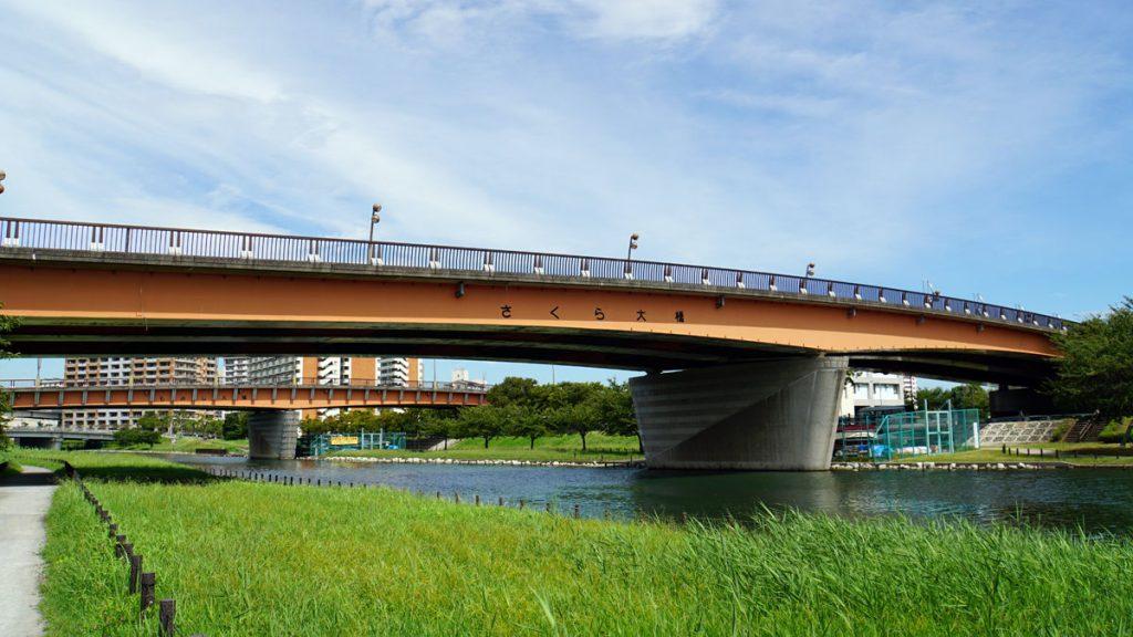旧中川の風景(さくら大橋)