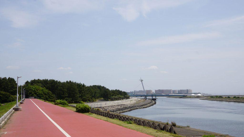画像 葛西臨海公園に向かうサイクリングロード