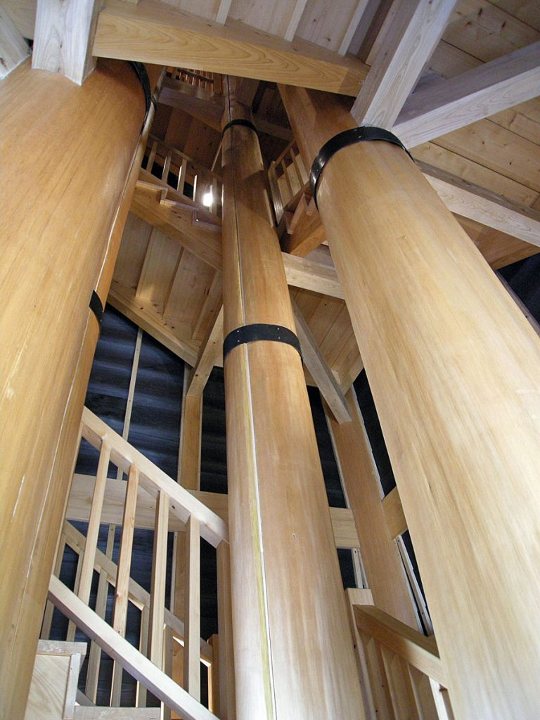 新川 火の見櫓の内部