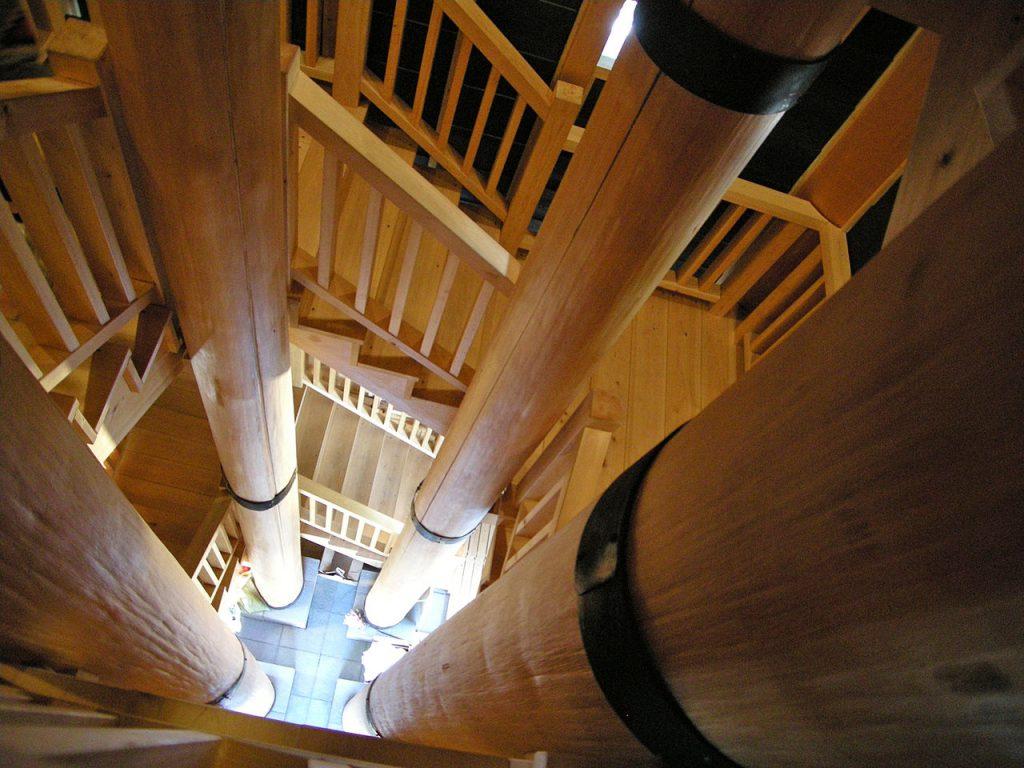 新川 火の見櫓の内部2