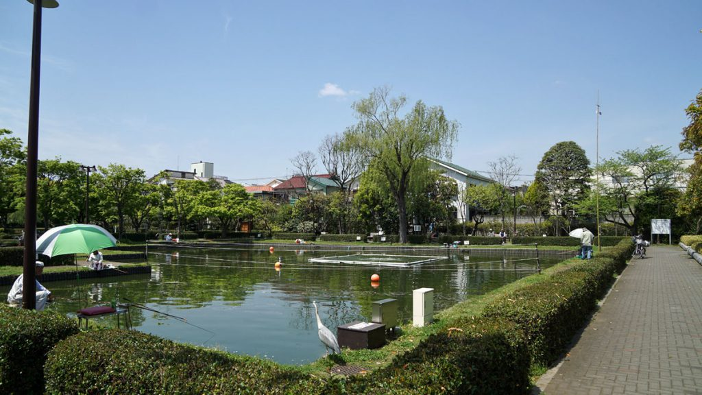 行船公園のつり池