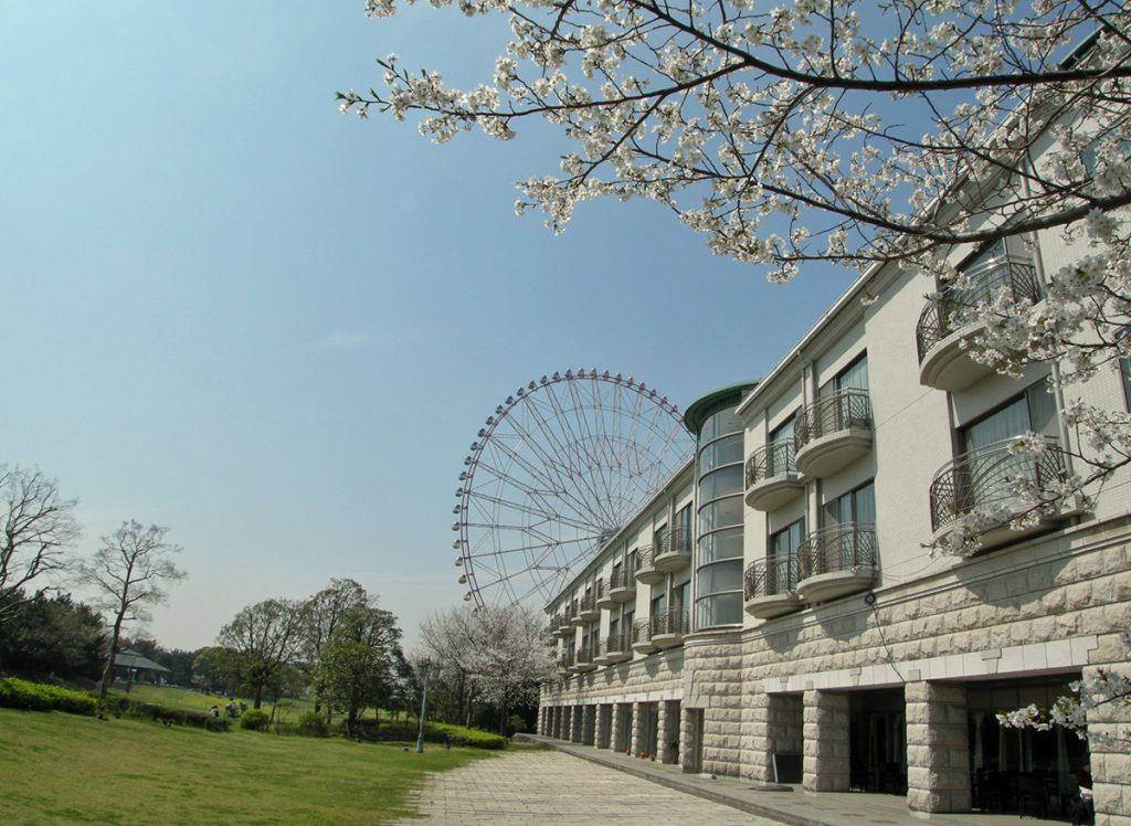 画像 葛西臨海公園 桜とホテルシーサイド江戸川