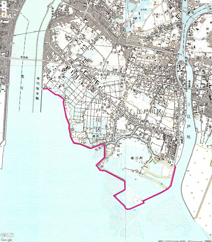 画像  1965年(昭和40)~1968年(昭和43)の地図