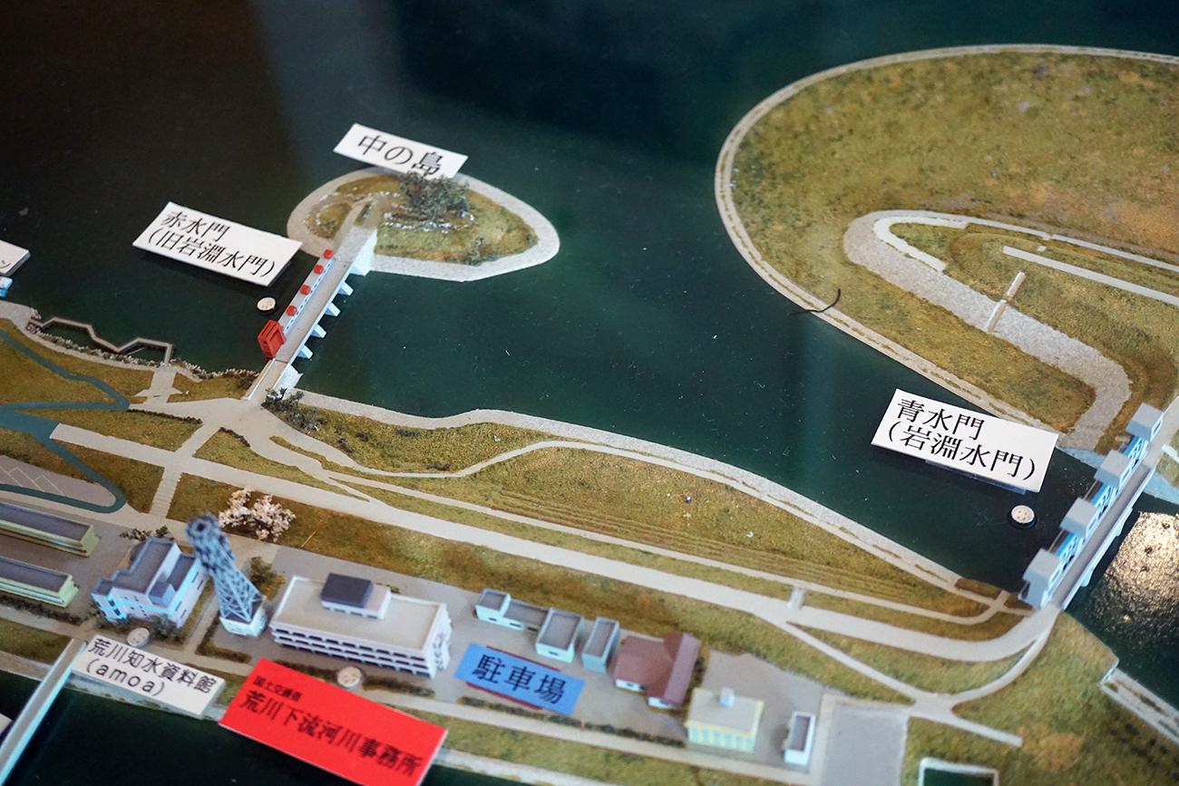 画像 岩淵水門周辺のジオラマ