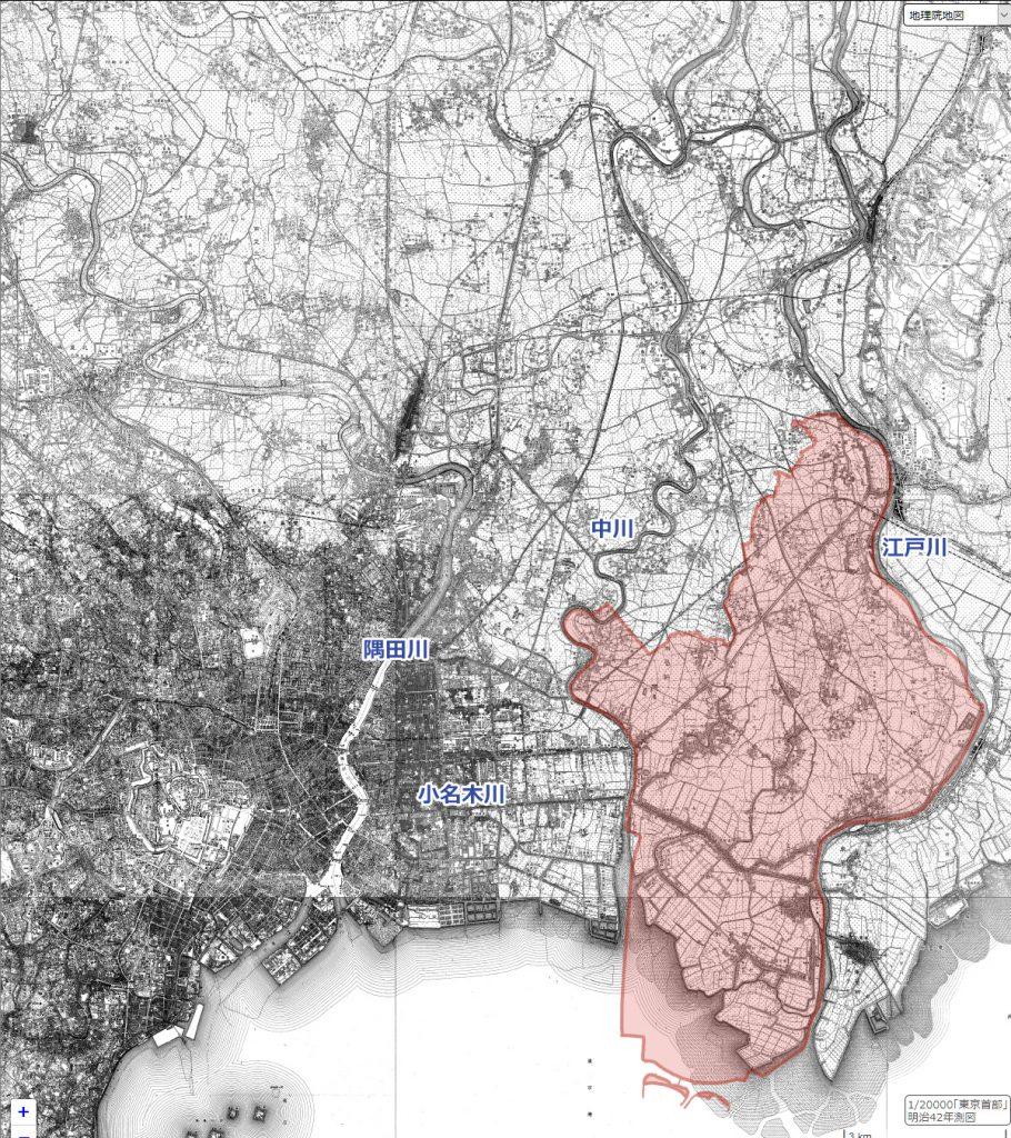 画像 明治42年(1909)の地図
