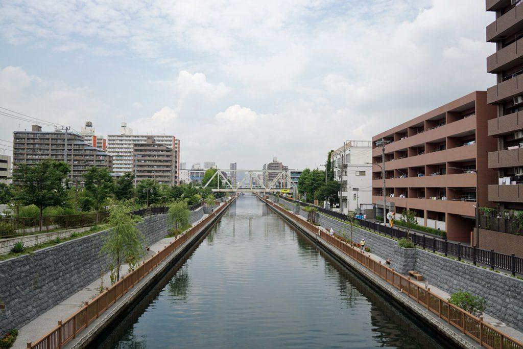 画像 隅田川に向かって真っすぐに伸びる小名木川