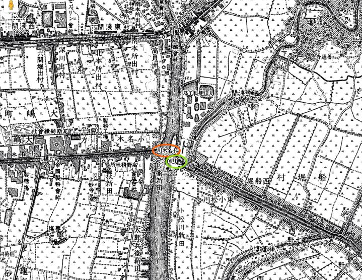 画像 明治42年の地図 新川と小名木川