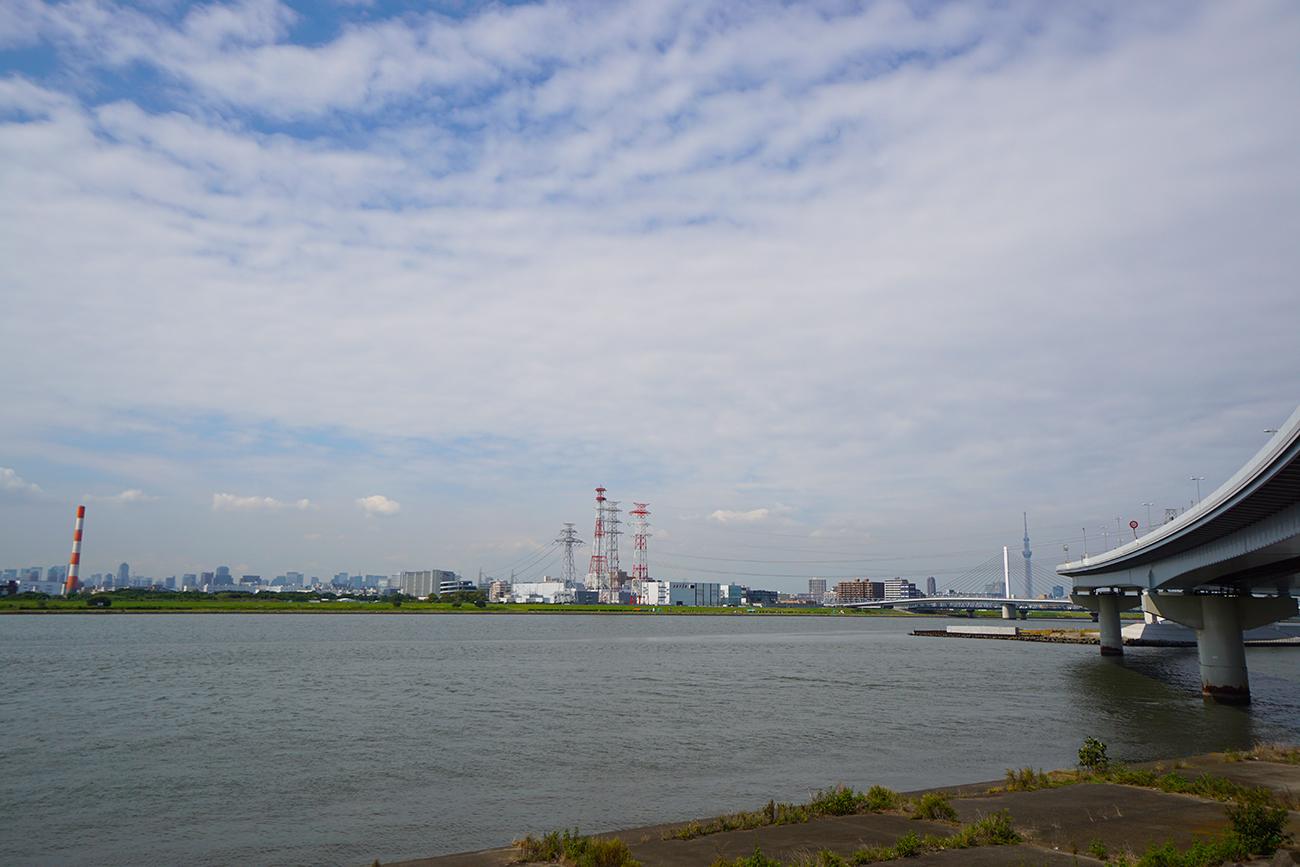 画像 荒川と中川の合流地点の風景2