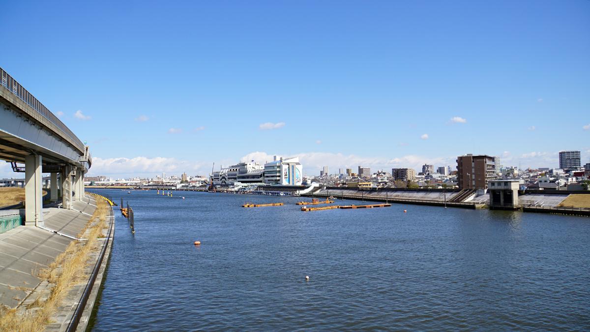 画像 中川の風景 江戸川競艇場