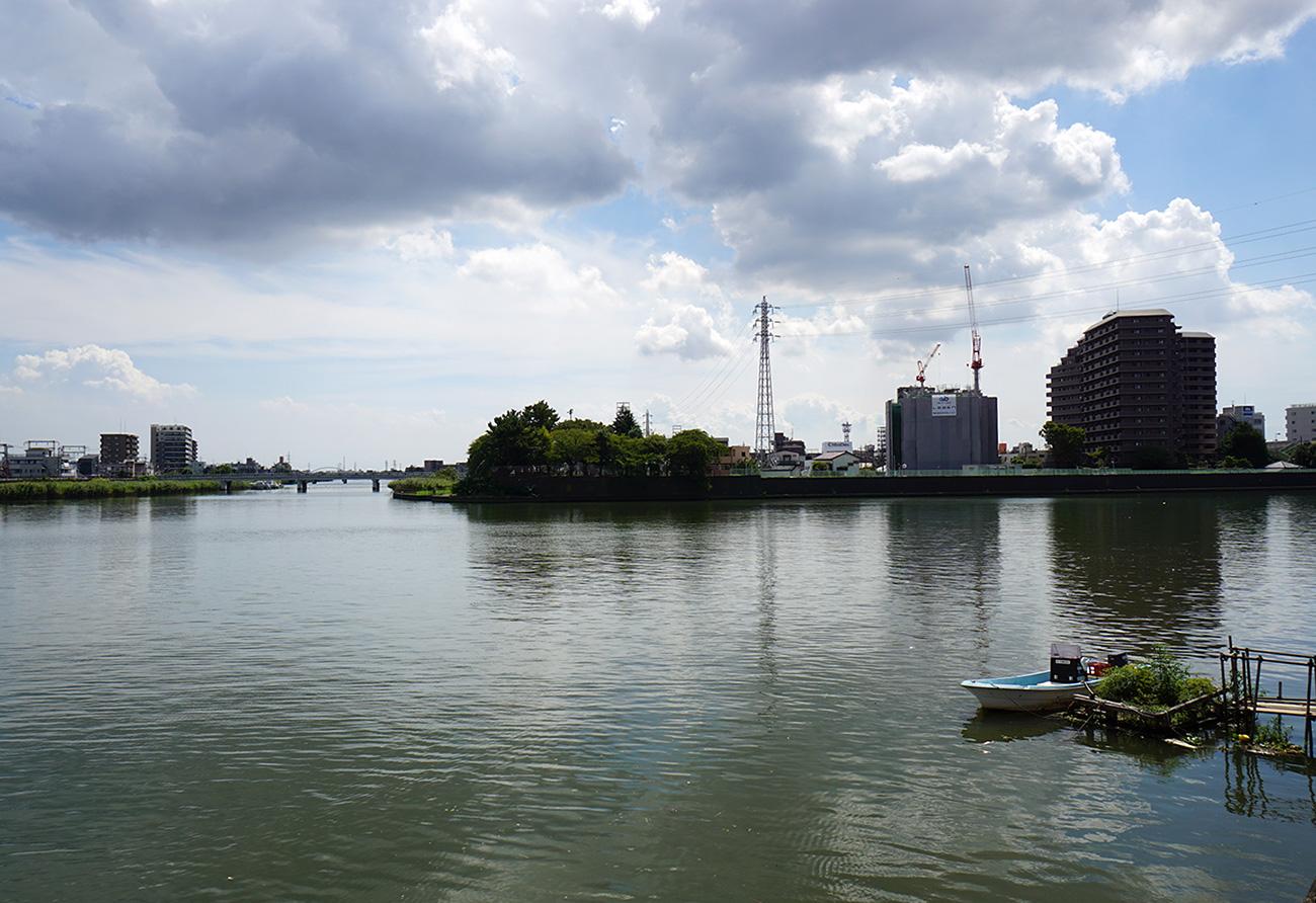 像 中川と新中川の分岐地点の風景3