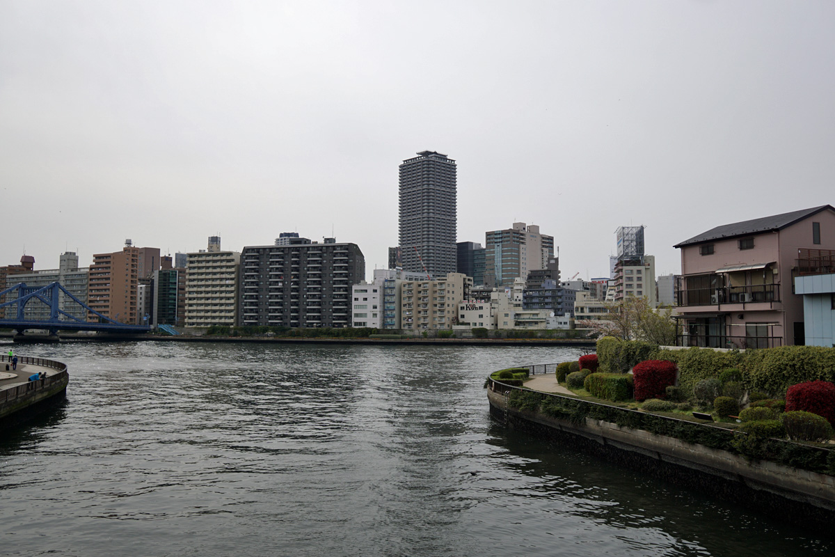 画像 小名木川と隅田川の合流地点