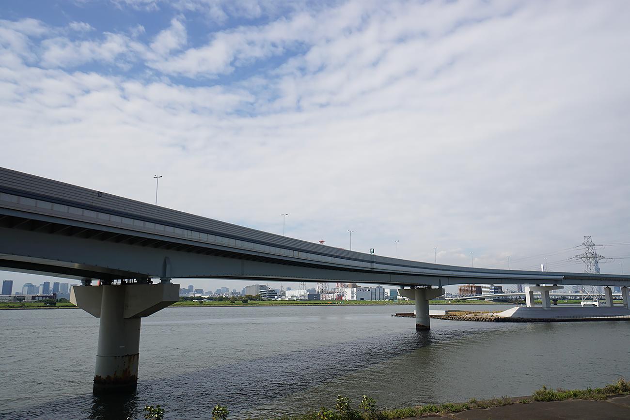 画像 荒川と中川の合流地点