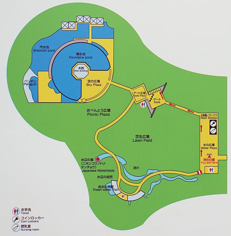 画像 葛西臨海水族園の案内図