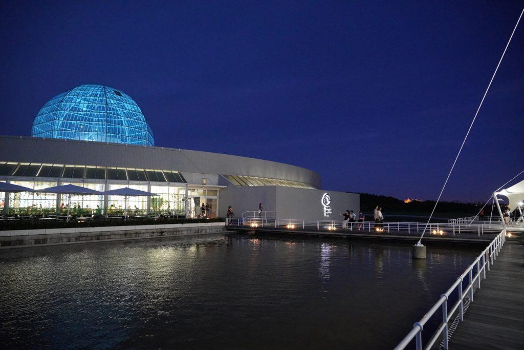 画像 夜の葛西臨海水族園のテラス