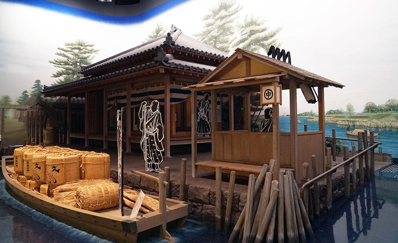 画像 中川船番所のジオラマ2