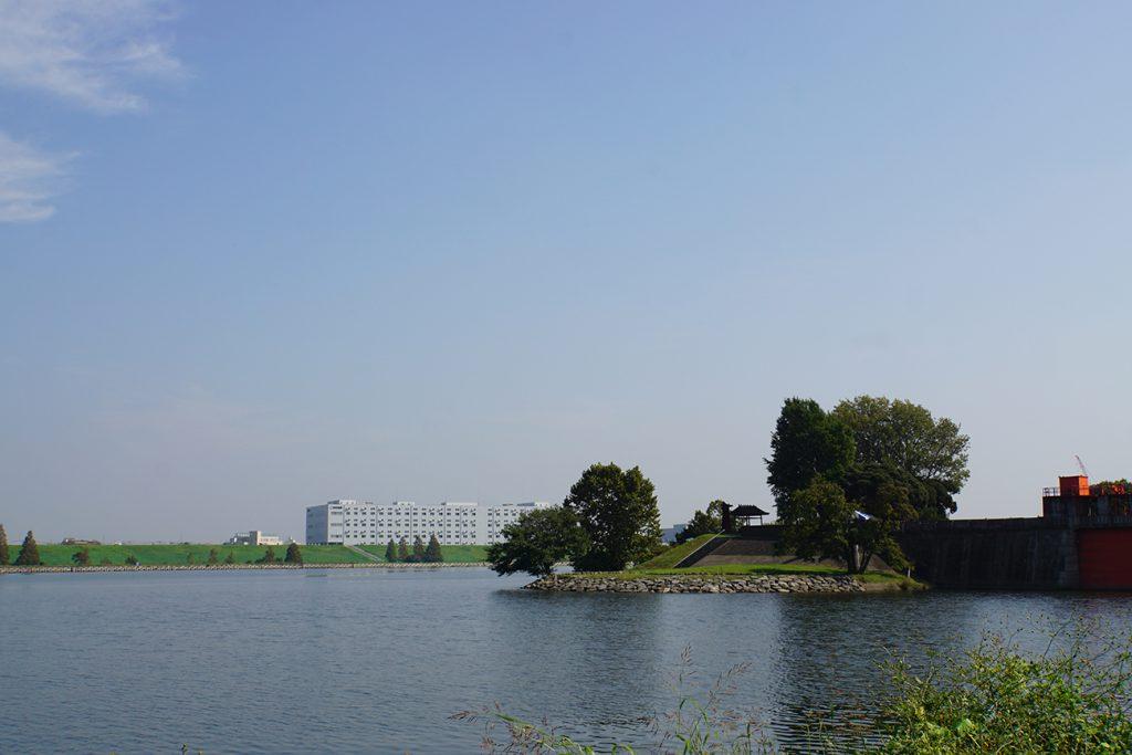 画像 荒川と隅田川の分岐点
