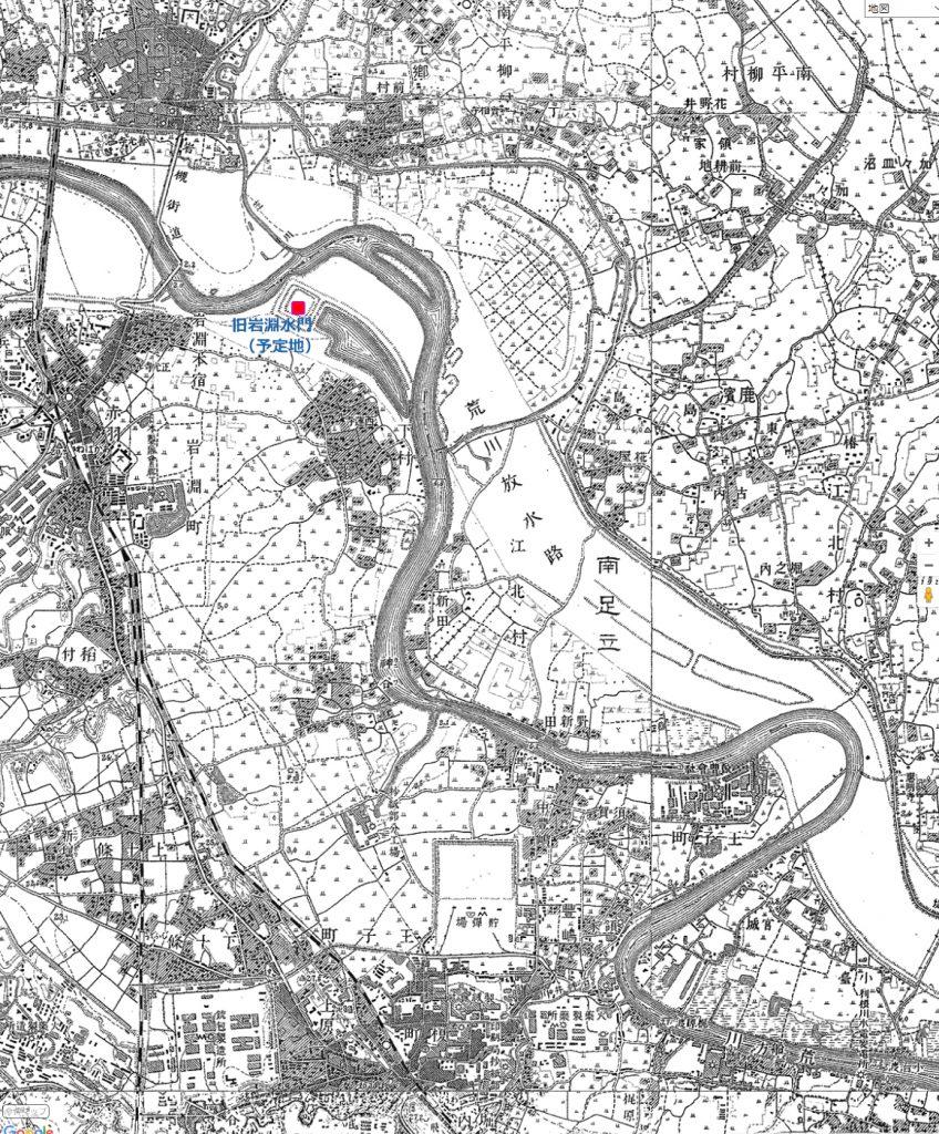 画像 大正4年(1915)の旧岩淵水門周辺の地図
