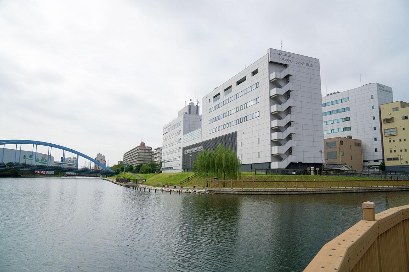 画像 小名木川と旧中川の合流地点の風景