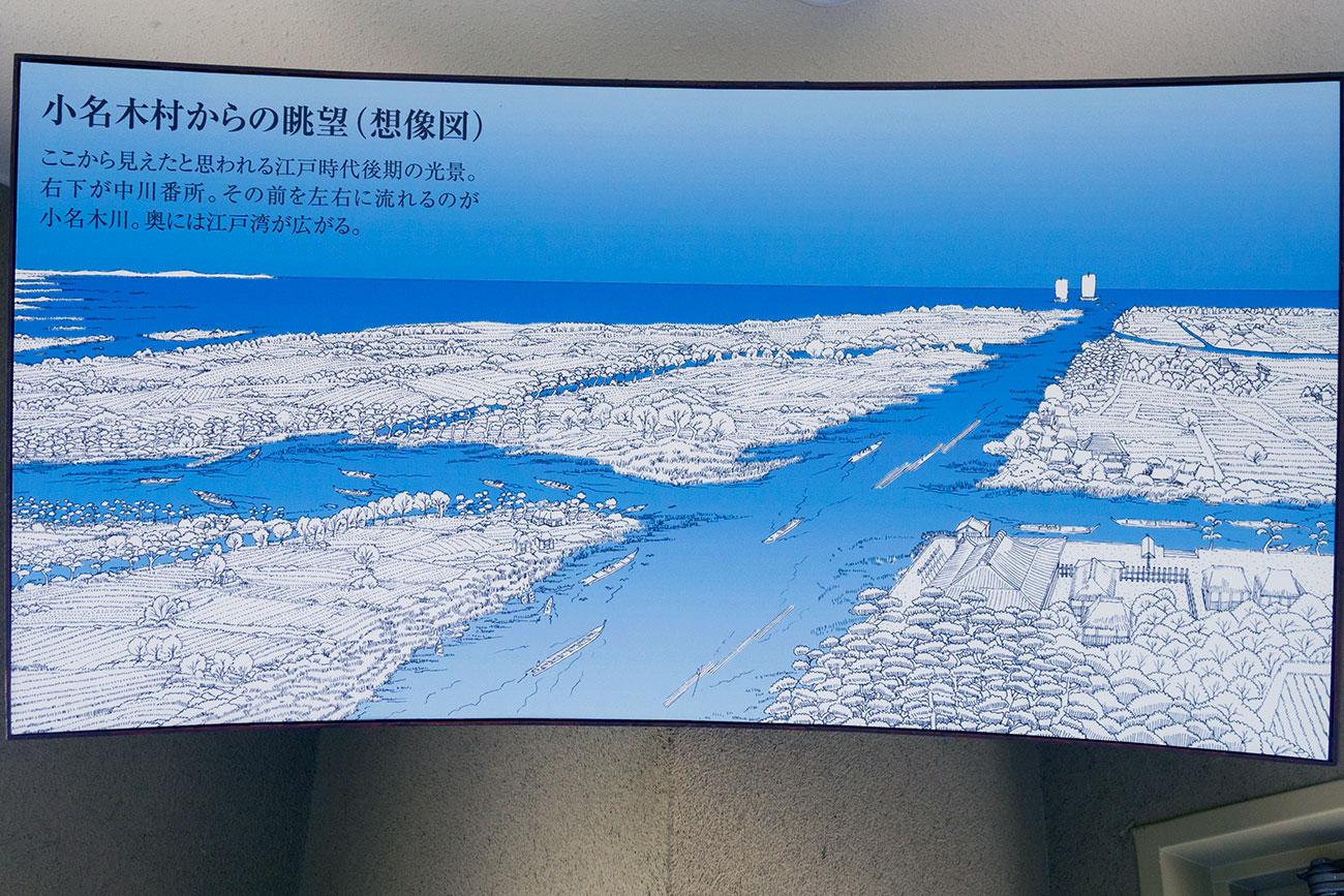 画像 小名木村からの眺望(想像図)