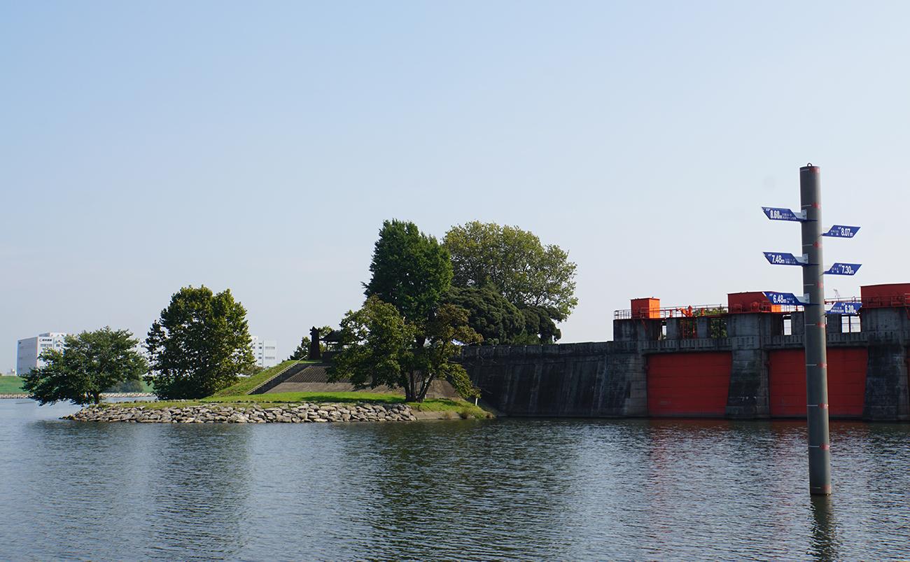 画像 旧岩淵水門周辺の風景