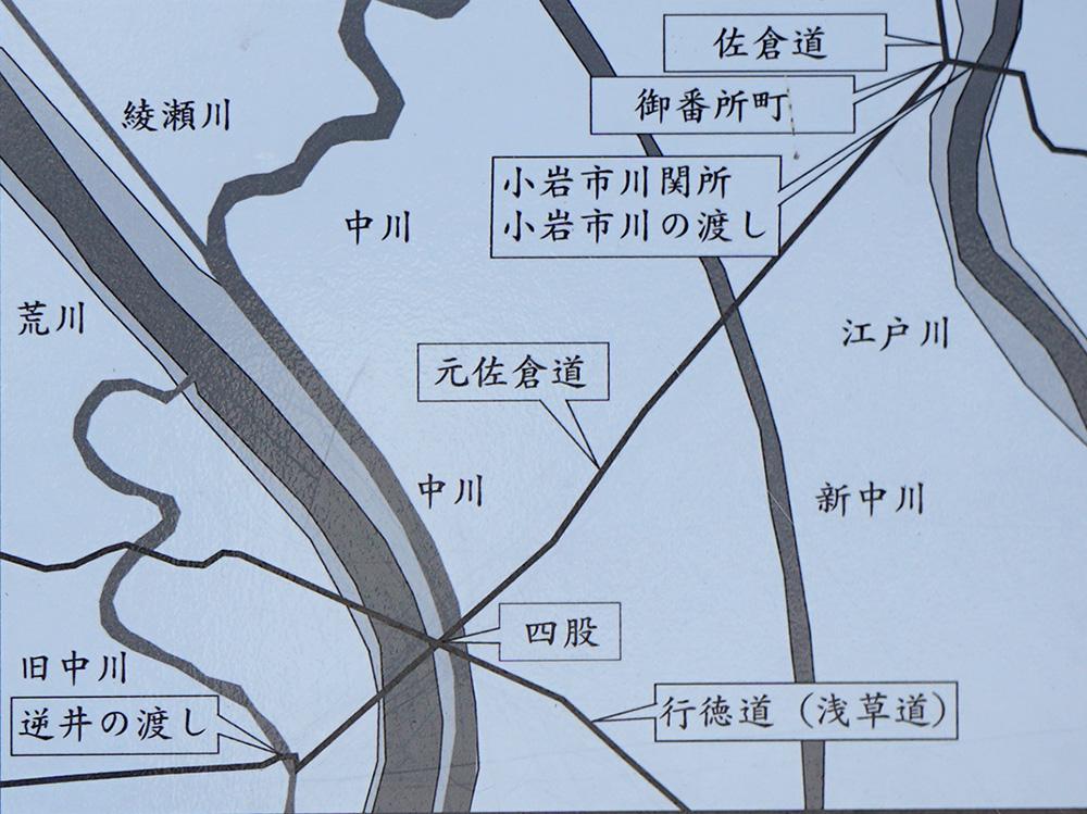 画像 小岩の関所 元佐倉道