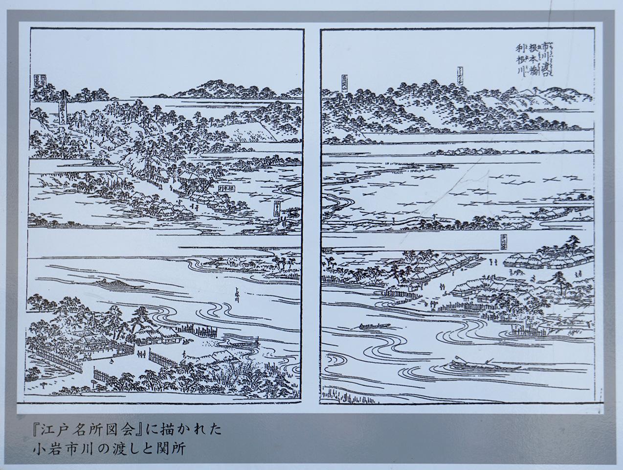 画像 江戸名所図会 小岩市川の渡しと関所