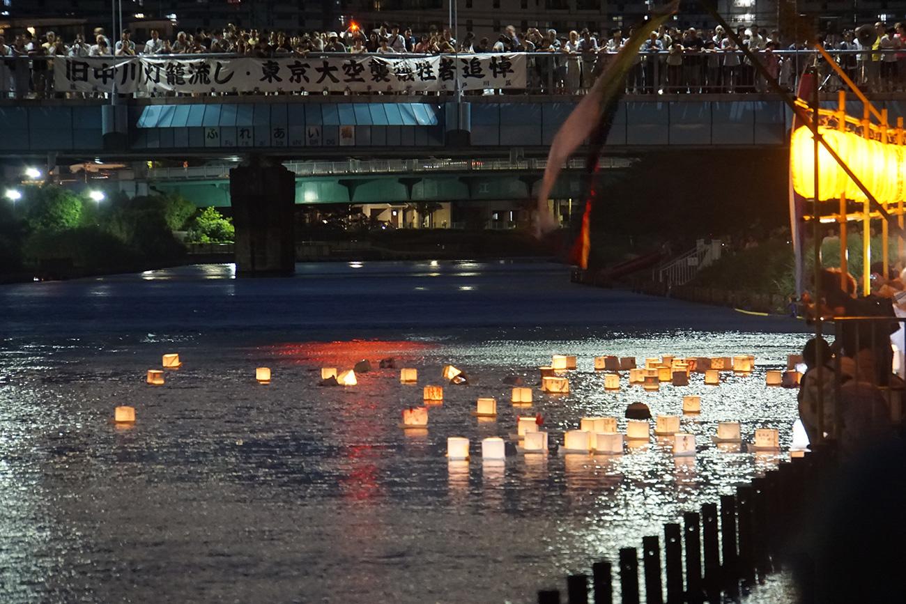 画像 第20回旧中川東京大空襲犠牲者慰霊灯籠流し ふれあい橋付近