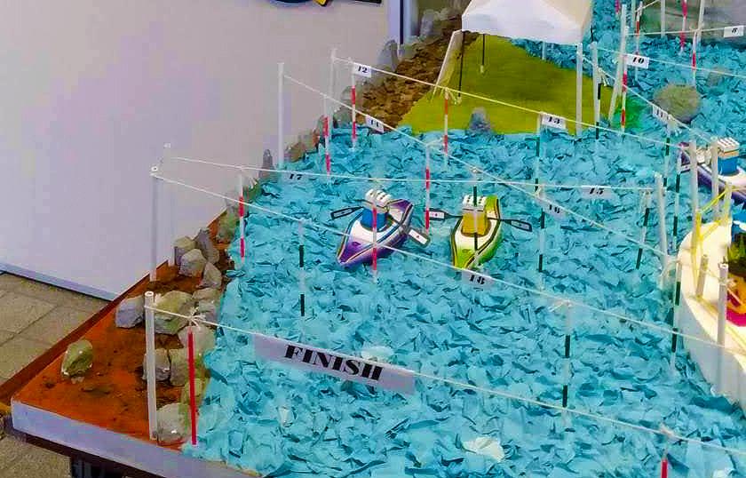画像 カヌー・スラローム協議の模型