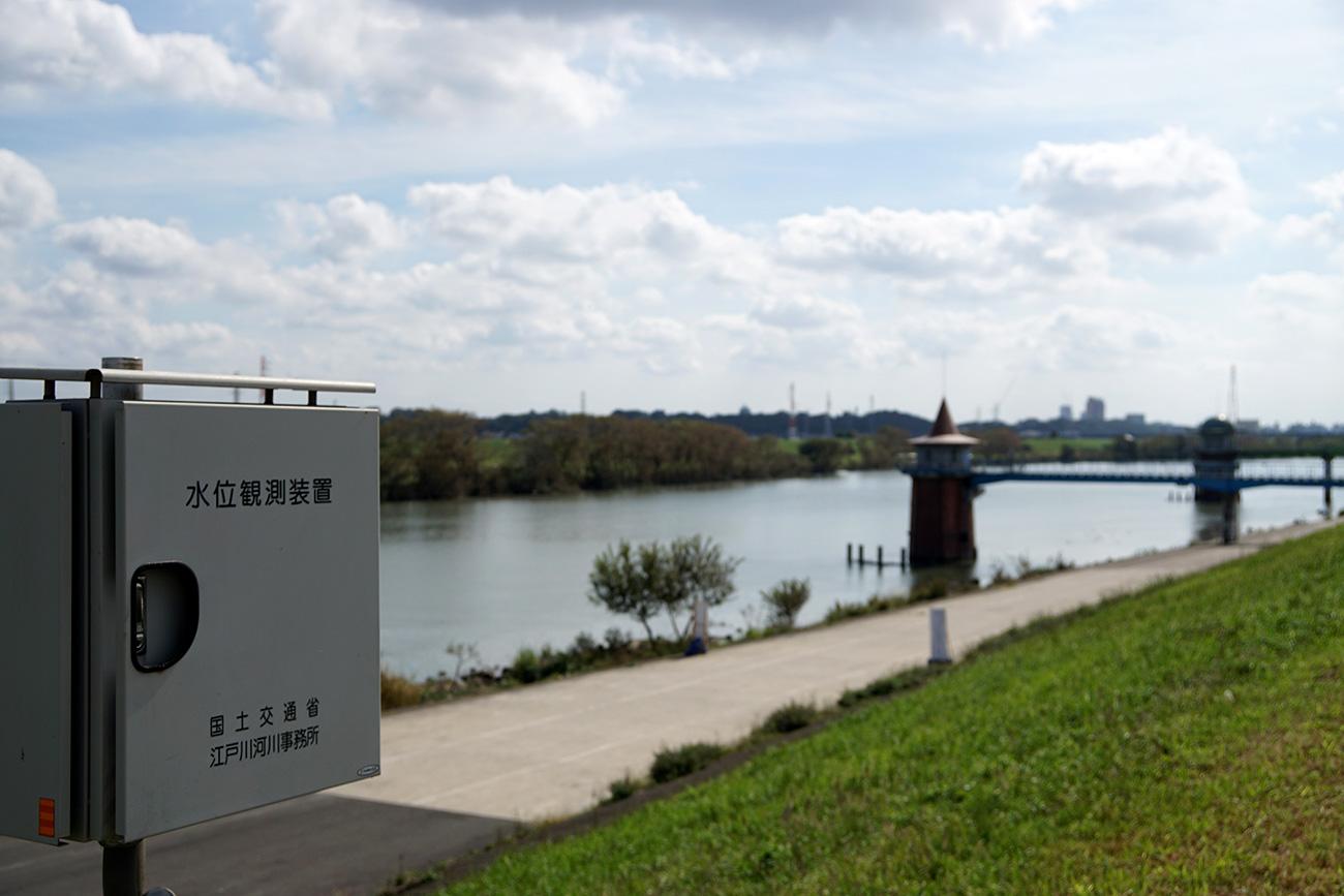 画像 国土交通省の水位観測装置