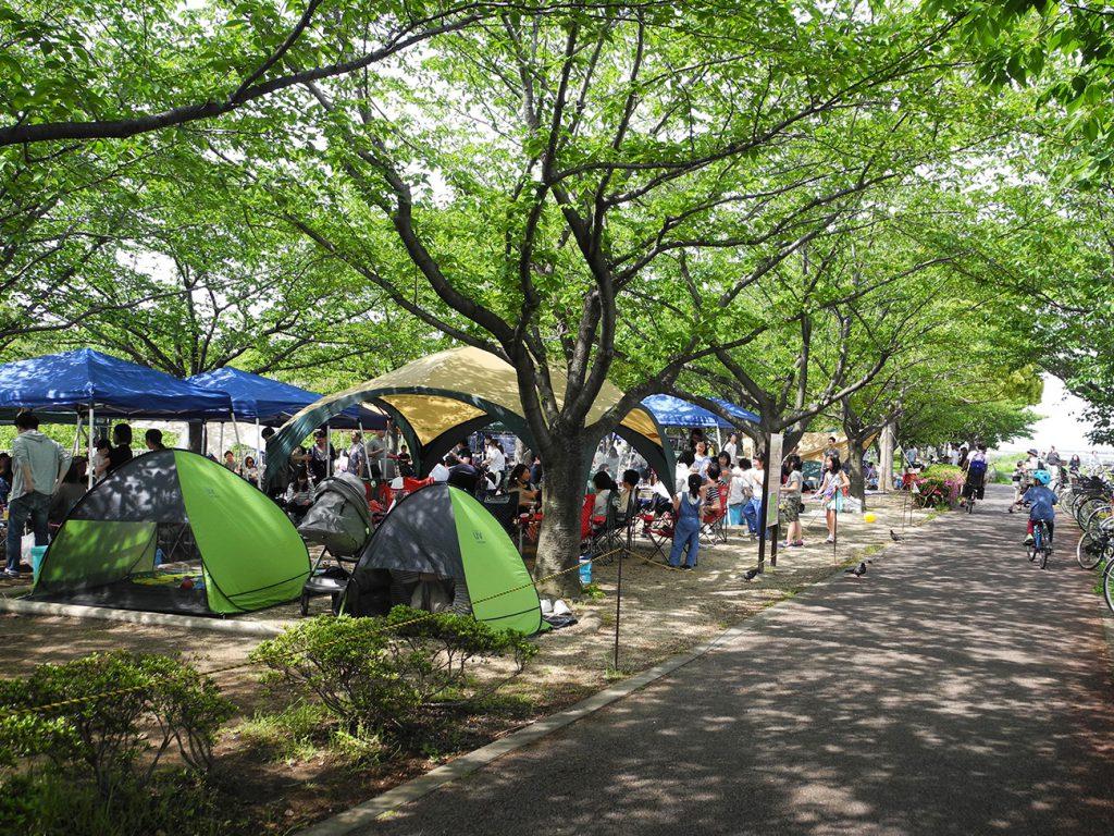 画像  小松川千本桜のバーベキュー場