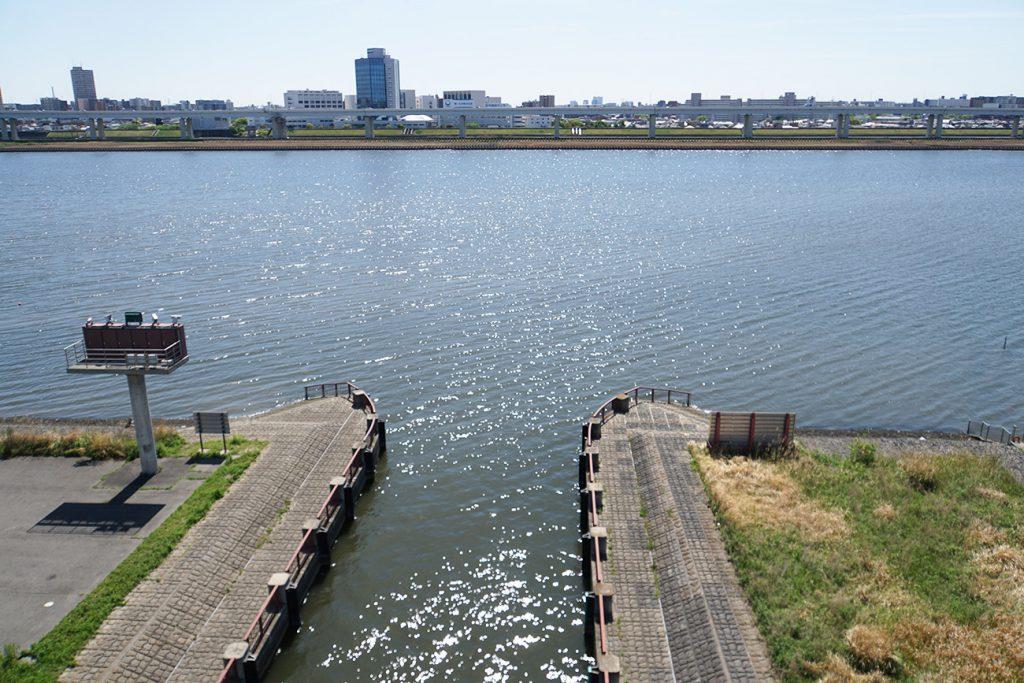 画像 旧中川と荒川の合流地点