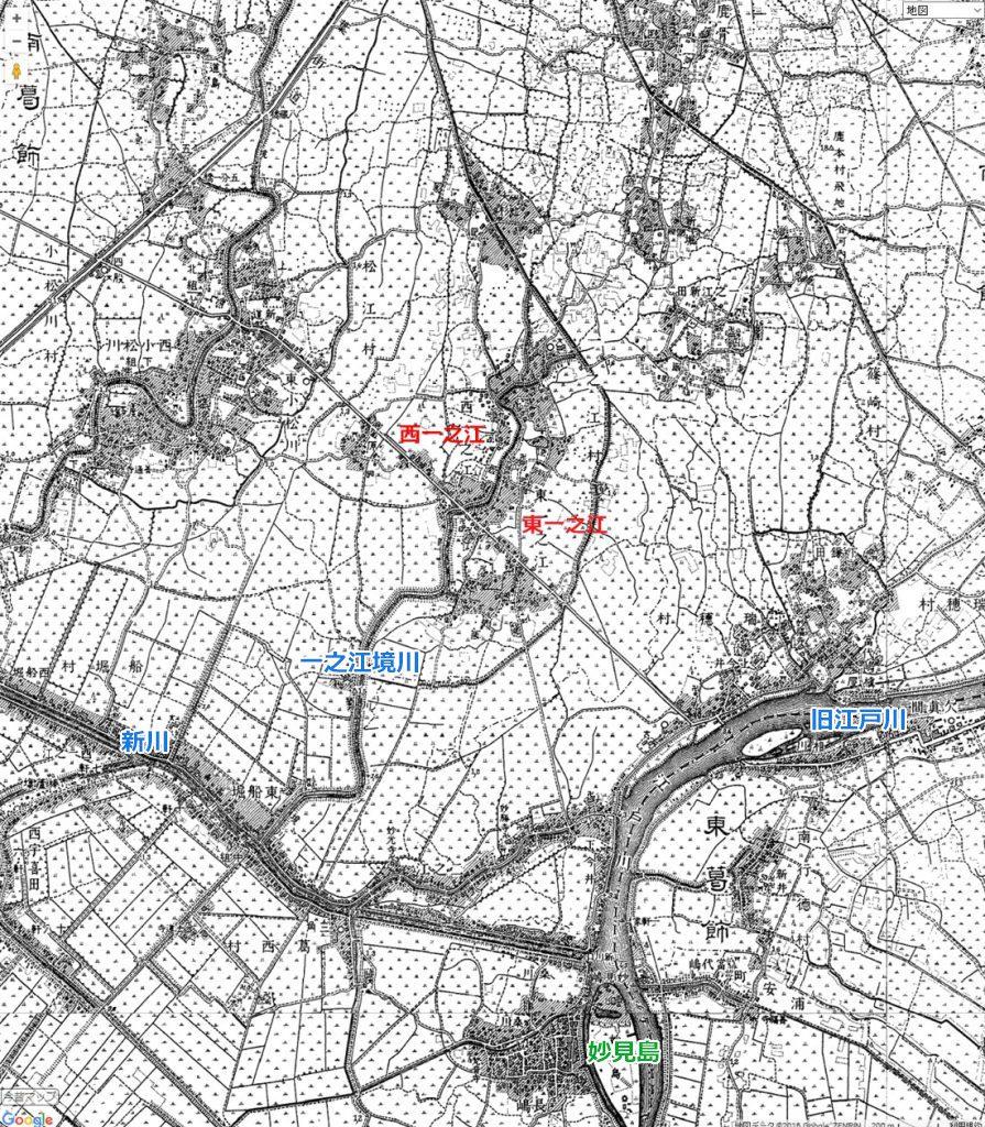 画像 明治42年の一之江境川付近の地図