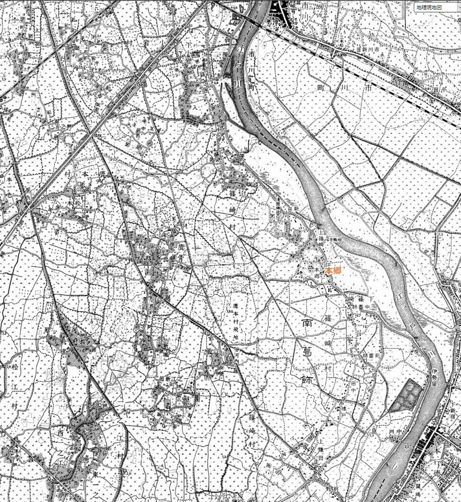 画像 明治36年の下篠崎付近の地図