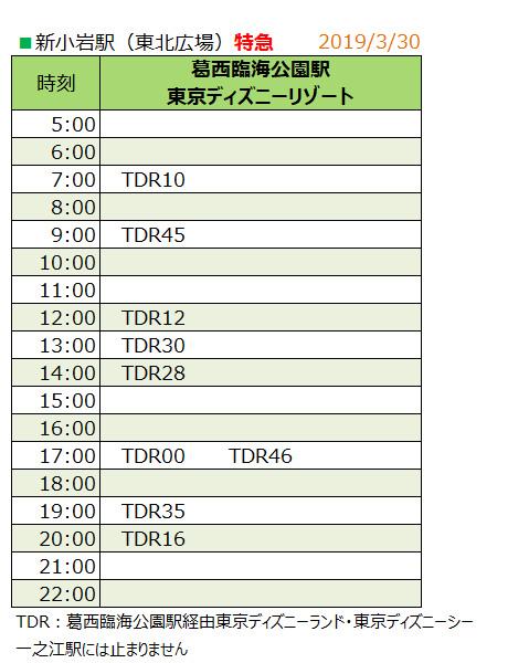 新小岩駅 時刻表