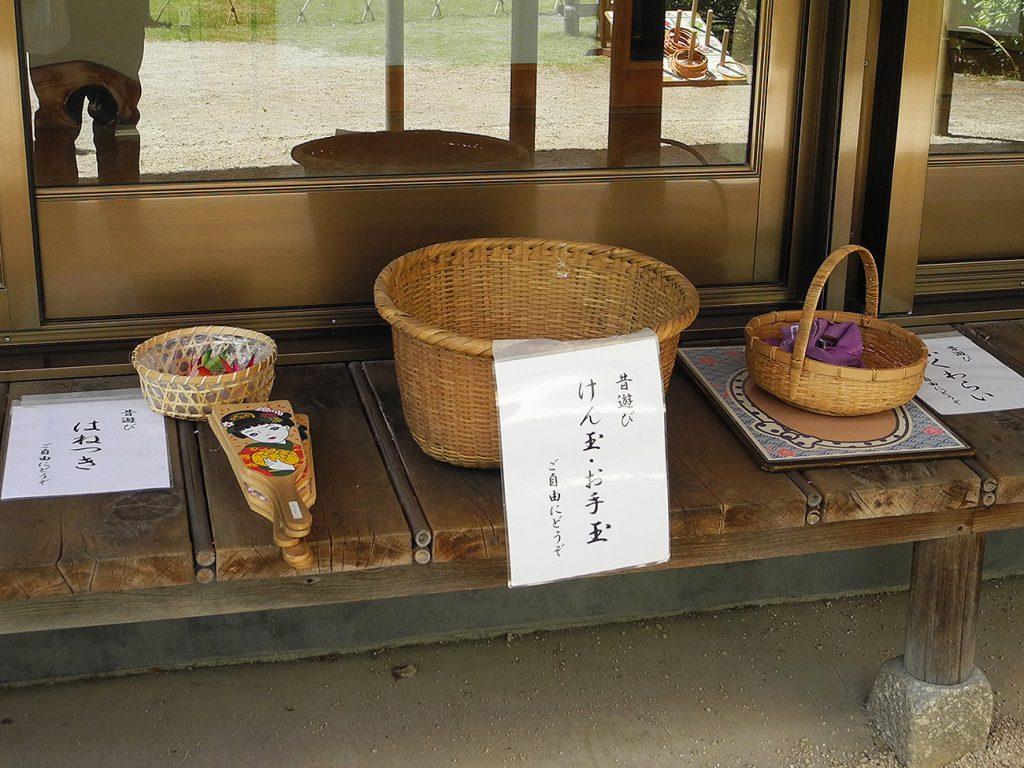 画像 一之江抹香亭の昔あそびの道具