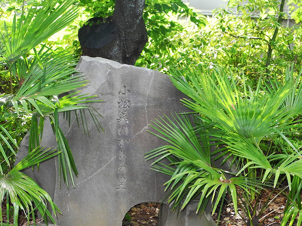 画像 小松菜ゆかりの里の石碑